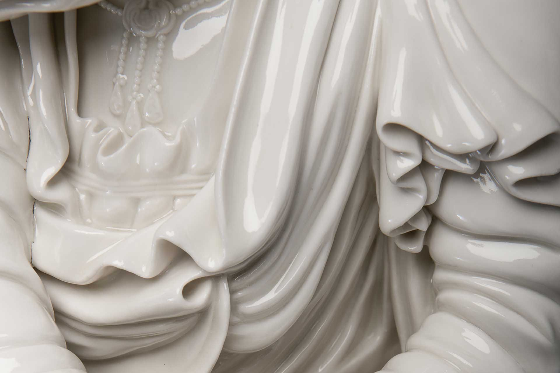 Penitent - glazed porcelain by Enrique Perezalba Red London